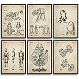MONOKO® Star Wars Bilder Patent Poster Krieg der Sterne