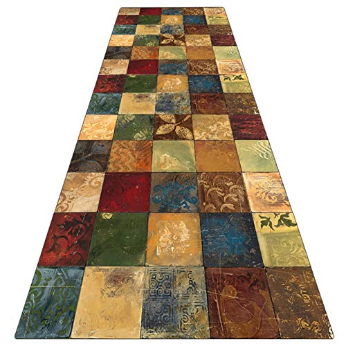 WUZMING-Tappeto Corridoio Passatoia Passatoia Corridoio Supporto Antiscivolo Motivi Geometrici per Soggiorno Tappetino da Cucina (Size : 70x270cm)