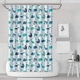 YUYUTE Cortinas de baño Decoración de bañoBath Curtain Blue Untamed Fingerlings Dinosaurs Life Bathroom Accessories Classic Durable for Bathroom,Printing Bath Curtains