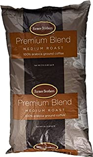 Farmer Brothers Ground Coffee, Medium Roast, 100% Arabica Coffee - 5 lb Bag