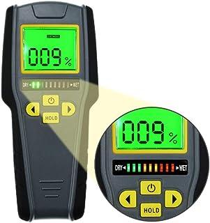 مقياس رطوبة رقمي من أدوات عام، شاشة LCD بإضاءة خلفية، منبه بصري/مسمع، كاشف تسرب الماء، مثالي لكشف تسرب الخشب والسقف