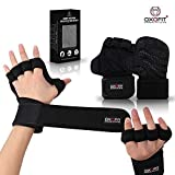 OxOFit Heavy Duty Ventilated Padded Gloves | Extra Grip with Full Palm Protection