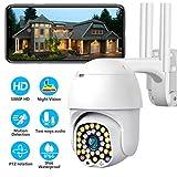 C/ámaras de Vigilancia WiFi Exterior Interior,LACYIE 1080P HD C/ámara de Seguridad para Exteriores IP66 2.4Ghz Audio de 2 v/ías,Detecci/ón de Movimiento Visi/ón Nocturna Compatible con IOS//Android//Windows