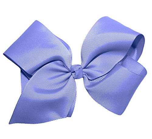 WD2U Girls 6' by 5' Large GrosGrain Knotted Boutique Hair Bow Alligator Clip USA Periwinkle