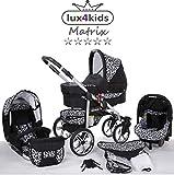 Cochecito de bebe 3 en 1 2 en 1 Trio Isofix silla de paseo X-Car by SaintBaby negro & onza 2in1 sin Silla de coche