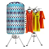 LKOIJ Portable Ventless Laundry Clothes Dryer Heater 1000W Electric Folding Indoors Fast Air