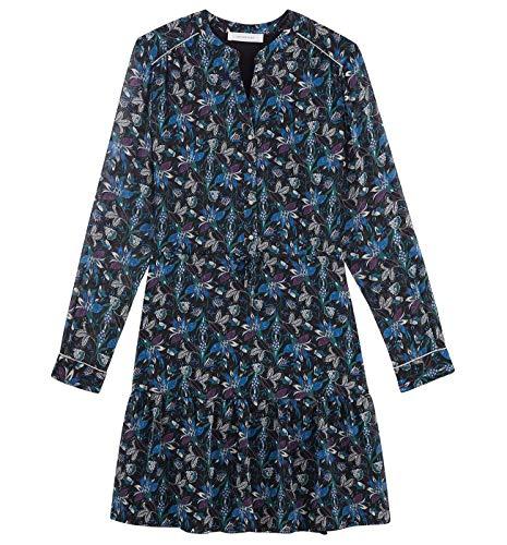 Promod Kleid mit Allover-Print Marineblau Gemustert 40