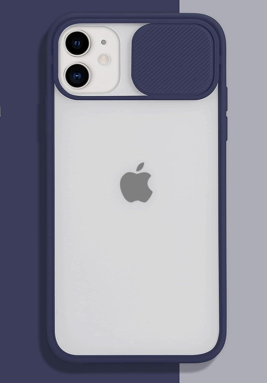 iPhone 11 Case with Camera Cover [Slide Camera Lens Protection][Matte Soft Bumper][Anti-Fingerprint] Camera Lens Protector Slide Camera Cover Case for iPhone 11 MidnightBlue