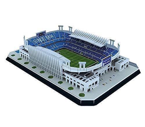 Modelo del Estadio Club de Fútbol de La Rosaleda del Málaga, Modelo de Rompecabezas del Estadio Deportivo 3D, Fans Souvenir DIY Toys (14.9'× 10.1' × 3')
