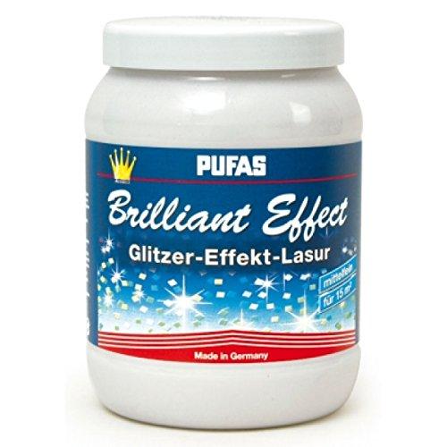 Pufas Brilliant Effect Lasur Effektlasur 1,5 L mittelfeiner bläulicher Effekt