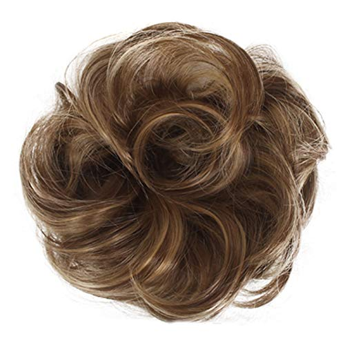 FinWell Easy to Wear Stylish Hair Scrunchies Naturally Messy Curly Bun Hair Extension Comfortable & Breathable Adjustable Size by
