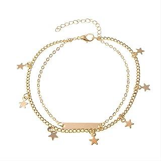 Gioielli alla moda Star Cavigliere femminili Sandali all'uncinetto a piedi Foot Jewelry Cavigliere Multilayer Braccialetti...
