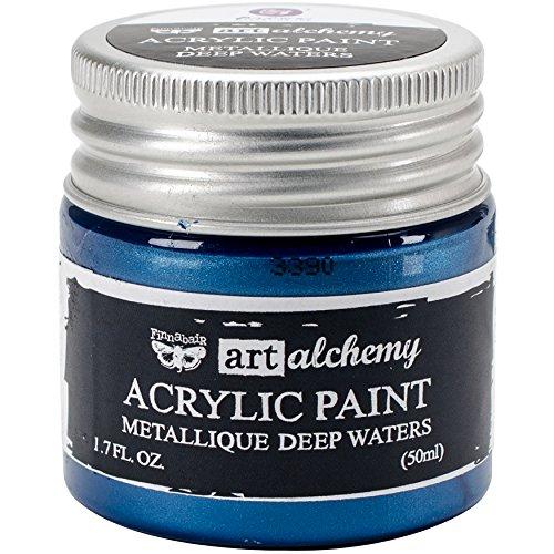 Prima Marketing Finnabair Art Alchemia farba akrylowa 1,7 uncji płynu - głębokie wody, inne, wielokolorowe