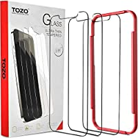 TOZO for iPhone 12 Pro Max 6.7 inch Screen Protector [3-Pack] Premium Tempered Glass [0.26mm] 9H Hardness 2.5D Film...