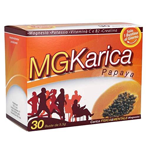 Efas - MG Karica Papaya - 30 bustine da 5,5 g | Energetici e tonici, papaya fermentata, magnesio, potassio, Difese immunitarie, stanchezza, stress con Vitamina C e B2