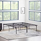 MALOUF HIGHRISE Folding Metal Bed Frame 14 or 18 Inch High Platform Bed Base – Strong and Sturdy Support – Quiet, Noise Free – King