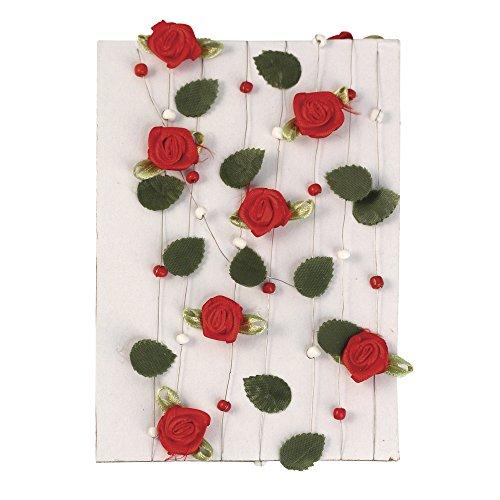 "Rayher 5521118 Guirlande de Rose avec Blàƒ € ttern + Perles, 4€""25 mm, sous Blister. 2"