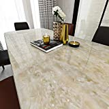 LIKILIKI Kitchen White Marble Contact Paper for countertops Waterproof Removable Peel and Stick Wallpaper Modern Vinyl BedroomBathroom Wall Paper 15.75 x 78 inch