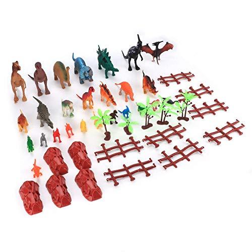 26Pcs Mini Dinosaurus Speelgoed - Dinosaurusset Speelgoedfiguren - Simulatie Miniatuur Diermodel Speelgoed - Met Opbergdoos - Met Steen, Boom, Hek, Papier - Voor Kind, Jongens, Meisjes(Kleurrijk)
