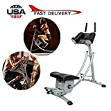 YY1950s Ab Vertical Core Toner Ab Trainer Workout Machine Fitness Equipment Abdominal Crunch Coaster Home Gym Height Adjustable for Home Gym (Black)