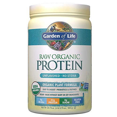 Garden of Life Raw Organic Protein Unflavored Powder, 20 Servings, Certified Vegan Gluten Free...