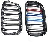 Accesorios para rejillas de automóviles UN par de rejillas de riñón laminares de 2 líneas de color M parrilla delantera, para e70 e71 2007 ~ 2013 rejillas de parachoques de rejillas de automóviles
