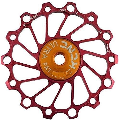 KCNC 1pc Jockey Wheel Pulley Ultra Light 14T Bike Rear Derailleur - red Long Teeth