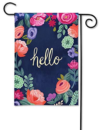 BreezeArt Studio M Boho Flowers Decorative Spring Summer Floral Garden Flag – Premium Quality, 12.5 x 18 Inches