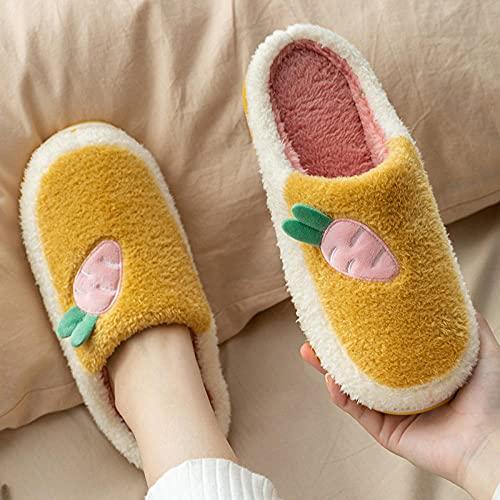 Memory Foam Zapatillas De Casa para Mujer,Lindas Zapatillas De Felpa De Dibujos Animados, Zapatillas CáLidas para Hombres Y Mujeres, Zapatillas De Interior para El Hogar, Zapatillas De Espuma Viscoel