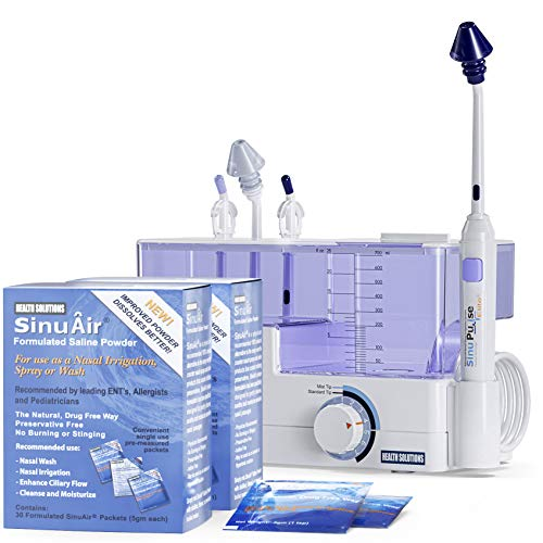 commercial Advanced Sinu Pulse Elite irrigation system with 60 Sinu Air packages added sinus irrigators
