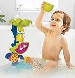TKFY Baño del bebé de los Juguetes de los niños Playa Tropical Salpicaduras Plaything Rueda giratoria de baño de hidromasaje Fuente Juguetes con Sucker Adecuado para más de 18 Meses