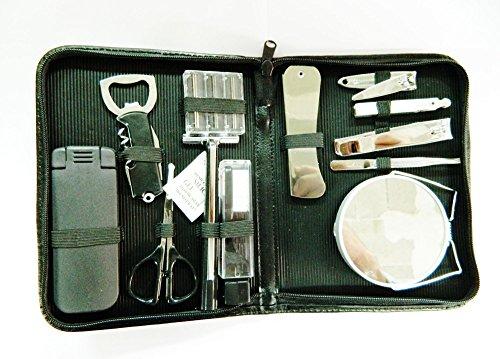 Trousse Manucure Voyage 12 Pièce Manucure Pédicure Ongle Pince à ongles, ciseaux à ongles, pince à épiler, cure-ongle 12 Pièces Noir