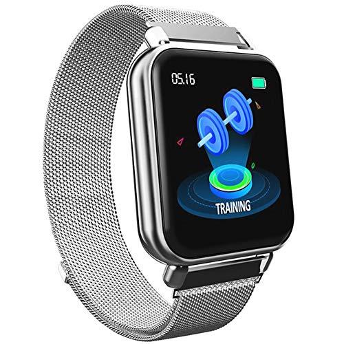 Smart Watch IP67 Wasserdicht Herzfrequenz Blutsauerstoff Blutdruck Messung Kalorienzähler Wecker Stoppuhr Schlafmonitor Sesshafte Erinnerung intelligentes Armband -D