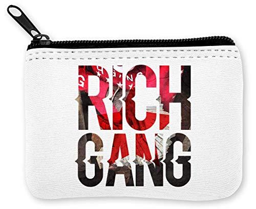 Rich Gang Music Collection Gangsta Cool Phrases Monedero de la Cremallera de la Moneda