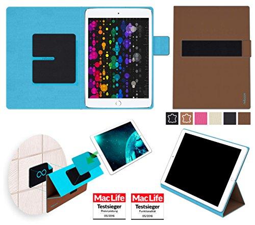 reboon booncover Tablet Hülle | u.a. für Google Nexus 10, Xperia Z4 Tablet | braun Gr. L2 | Tablet Tasche, Standfunktion, Kfz Tablet Halterung & mehr
