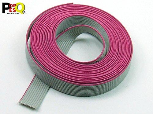 POPESQ® - 3 m x Flachbandkabel 10 polig 1.27mm für 2.54mm Verbinder #A1511