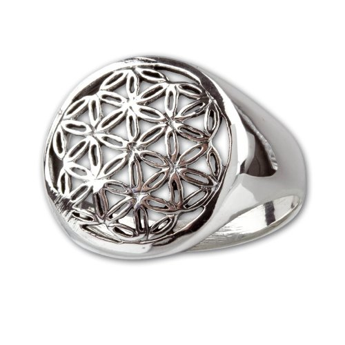 Ring Blume des Lebens 925 Sterling Silber (58 (18.5))