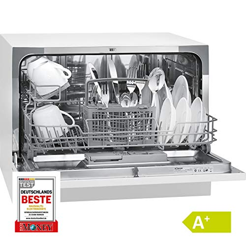 Bomann TSG 708 Freestanding 6places A+ White - dishwashers (Freestanding, A, A+, Compact, White, Buttons)