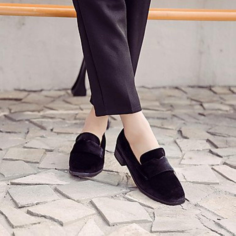 LvYuan-GGX Damen-High Heels-Lässig-Vlies-Niedriger Absatz Blockabsatz-Leuchtende Sohlen-, Sohlen-, Sohlen-, schwarz, 39  bc00ad