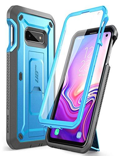 SupCase Hülle für Samsung Galaxy S10e Handyhülle 360 Grad Case Outdoor Schutzhülle Bumper Cover [Unicorn Beetle Pro] mit Integriertem Displayschutz und Ständer 2019 Ausgabe (Blau)