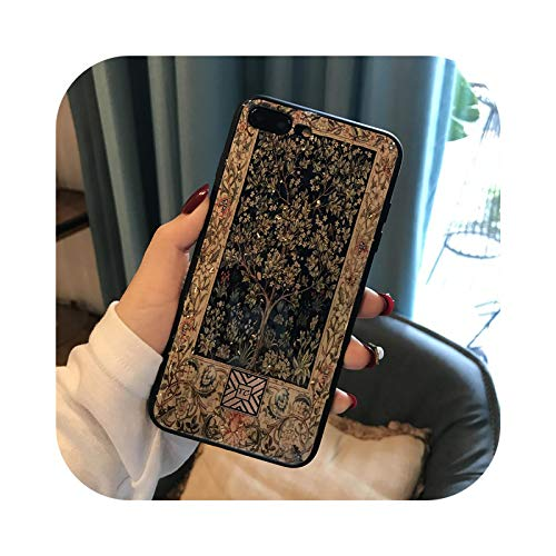 Carcasa de silicona para iPhone 11 Pro Xs Max Luxury Fantasy Marble Gold Foil para iPhone X XR 6 6S 7 8 Plus SE con purpurina suave D06 - para i6 Plus i6s Plus