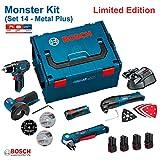 BOSCH Kit 12V - Set 14 (GSR 12V-15 + GWS 12V-76 + GOP 12V-LI + GWB 12V-10 + GLI 12V-80 + 4 x 1,5 Ah...