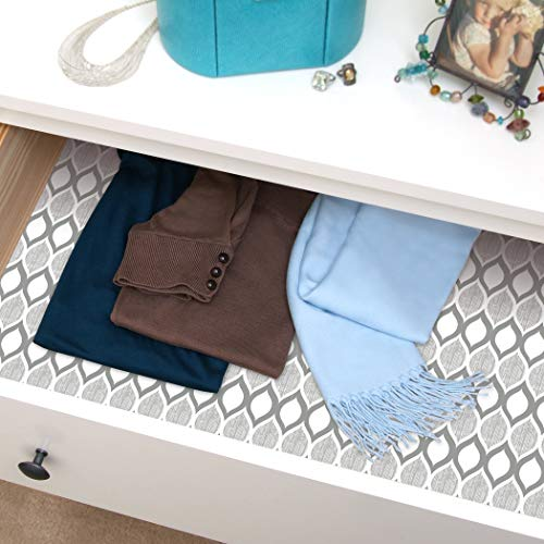 Con-Tact Brand Creative Covering Self Adhesive Vinyl Drawer and Shelf Liner, 18''x20', Savoy Stone