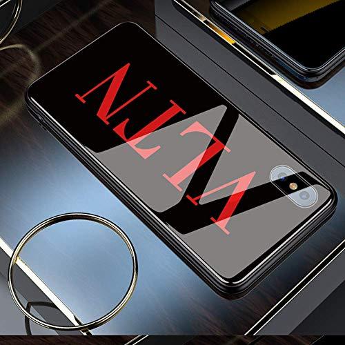 SMZNXF Carcasa de telefono,Funda de teléfono de Vidrio para iPhone 11 Pro MAX XR X 7 Plus 6s 6 8 Capa DIY Funda de teléfono de Vidrio a Prueba de Golpes para iPhone XS 5 5S SE Funda Personalizada