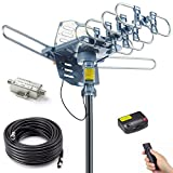 PBD Digital Amplified Outdoor HDTV Antenna with 40FT RG6 Cable,...