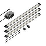 Luz LED para debajo del gabinete SIRIS, plana, 50cm cada una, 500lm, blanca, set de 3