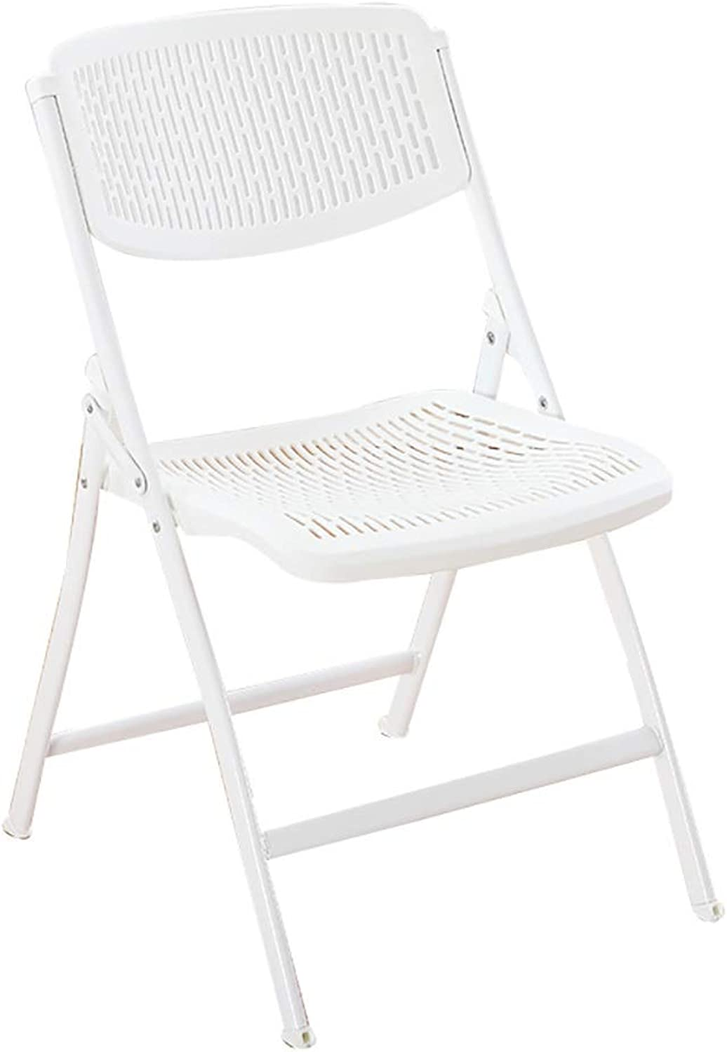 Folding Chair Home Chair Student Dormitory Computer Chair Leisure Chair Simple Office Chair Conference Chair Stool Chair (color   White)