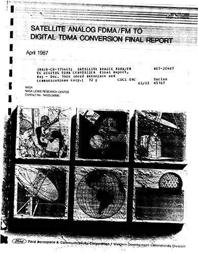 Satellite analog FDMA/FM to digital TDMA conversion (English Edition)