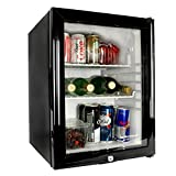 Frostbite Glass Door Mini Bar 35ltr - Counter Top Fridge with Lock, Suitable for Milk Overnight