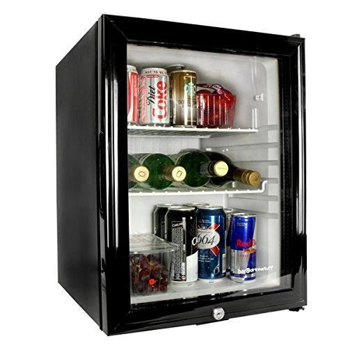 Frostbite Glass Door Mini Bar 35ltr - Counter Top Fridge with Lock, Suitable for Milk Overnight